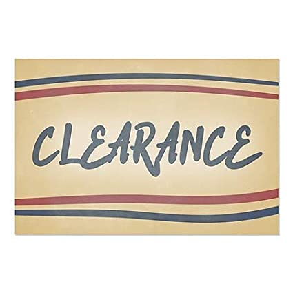36x24 Nostalgia Stripes Window Cling 5-Pack CGSignLab Clearance