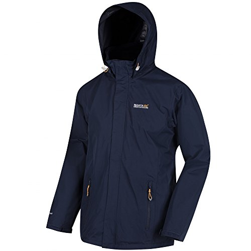 (Regatta mens Regatta Mens Matt Waterproof Hiking Walking Jacket Coat Navy Navy/Navy 3XL - Chest 49-51