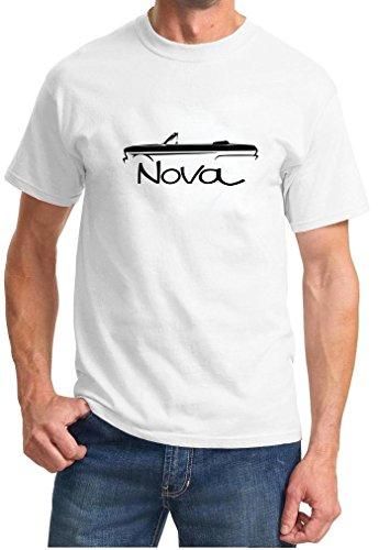 Nova Convertible - 1962-65 Chevy Nova Convertible Classic Outline Design Tshirt XL white