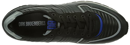 Bikkembergs 641027 - zapatilla deportiva de cuero hombre negro - negro