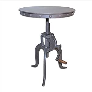 Adjustable Accent Table in industrial Finish