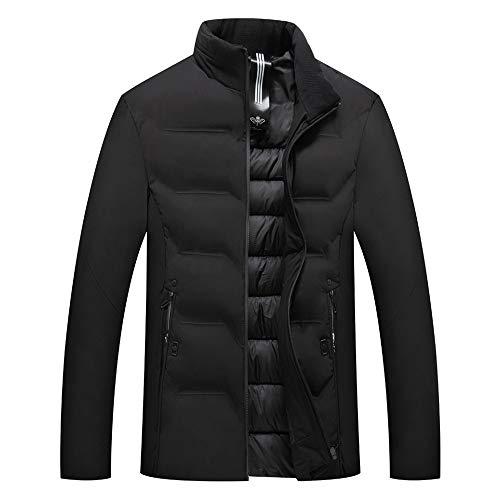 Termico Inverno Giacche Giacca Moda Pulsante Casuale Superiore Uomo Tasca Pelle Nero Sportive Autunno Cappotto ypgqgYwT