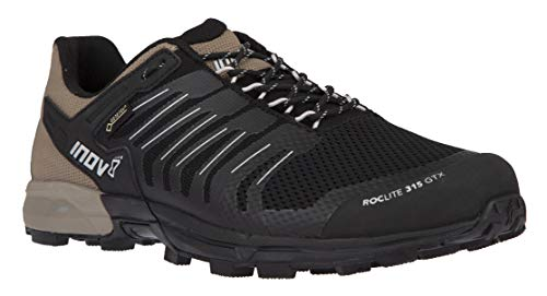 Inov-8 Mens Roclite 315 GTX | Lightweight Waterproof Trail Running Shoes | Superior Durability & Unrivalled Grip | Black/Brown M10.5/ W12