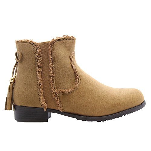Camel Boots SAUTE Womens Flat 8 3 Chelsea School Block Size STYLES Ankle Heels U8UWpq7R