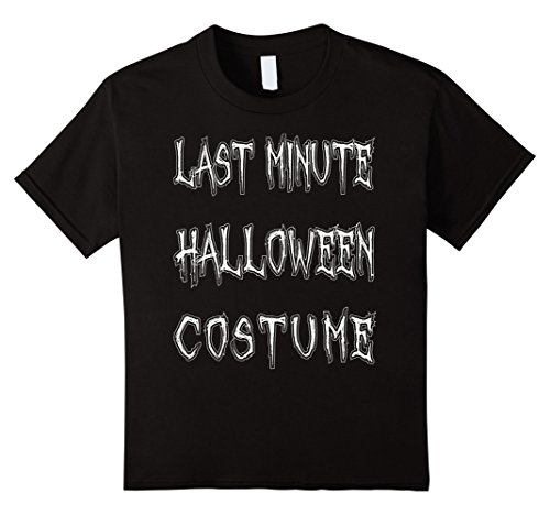 Kids Last Minute Halloween Costume T-Shirt Funny Halloween Party 12 (Last Minute Halloween Costumes For Kids)