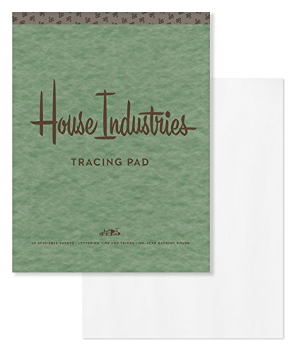 House Industries Tracing Pad: 40 Acid-Free Sheets, Lettering Tips, Extra-Thick Backing Board ()