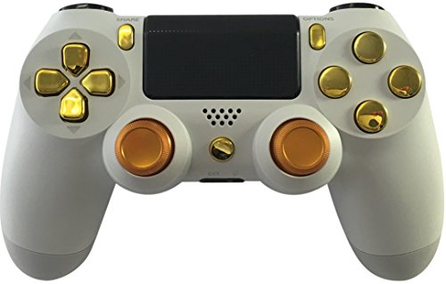GM Master Mod White & Gold PS4 Modded Controller Mod Custom Rapid Fire, Drop Shot, Quickscope COD Black Ops 3, Infinite Warfare, MW Remastered