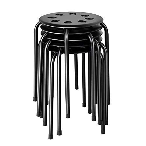 COSTWAY Stackable stools, Portable Plastic 17