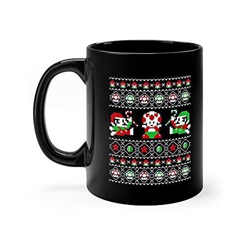 Ugly Christmas Sweater - Super Christmas Bros Mug Coffee Mug 11oz Gift Tea Cups 11oz Ceramic Funny Gift Mug
