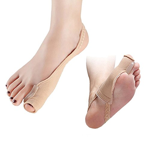 Ibnotuiy 2 Pcs Bunion Corrector, Bunion Relief Hallux Valgus Pads with Toe Separator Brace Socks, Foot Toe Protector Divider Straightener for Big Hammer Toe (S) by Ibnotuiy