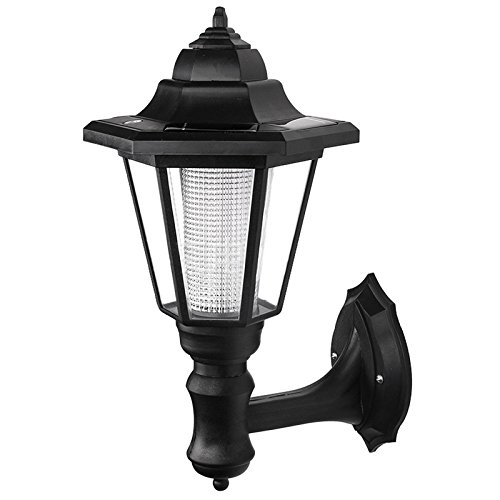 wall light - SODIAL(R) LED solar powered wall lanterns wall light lamp outdoor garden fence door by SODIAL(R)