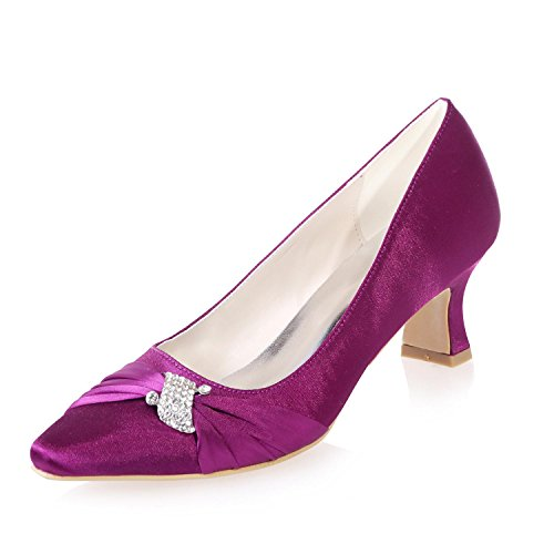 L@YC Female Pointed Wedding Office & & Evening Wear Evening Fine Heel Platform/0723-04 Purple