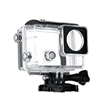 Vicdozia Underwater Housing Case Waterproof Protective Cover with Extended Back Door(Non-Touch) for Gopro Hero 4 3+ Bacpac LCD Screen Expansion Battery Bac Pac