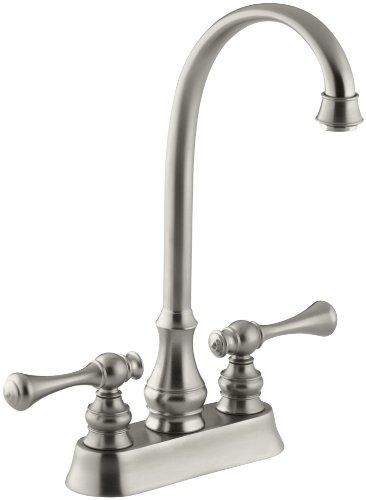 KOHLER K-16112-4A-BN Revival Entertainment Sink Faucet, Vibrant Brushed (Entertainment Centerset)