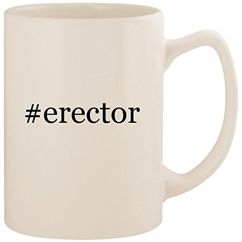 #erector - White Hashtag 14oz Ceramic Statesman Coffee Mug Cup ()