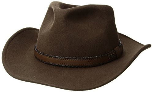 (Conner Hats Men's Outback Creek Crushable Wool Hat, Brown,)