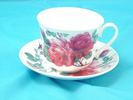 Extra Large English Rose Breakfast/Tea Cup & Saucer-Bone China