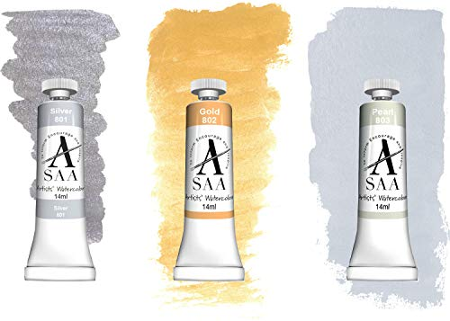 SAA Artists' Watercolour 14ml - Shimmering Set of 3 ()
