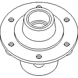 AN183318 New Hub Assembly For John Deere Cultivato