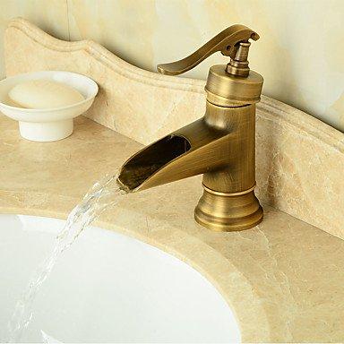 ZQ Grifo del fregadero cuarto de baño de estilo Vintage bronce ...