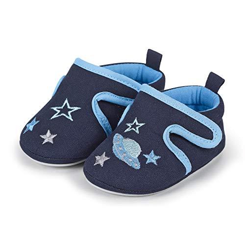 Sterntaler Baby-Krabbelschuh, Mocasín para Bebés, Azul Marine 300, 18 EU