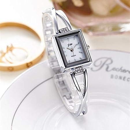 Amazon.com : Krassu - Rhinestone Watches Women Luxury Brand Stainless Steel Bracelet Watches Ladies Quartz Dress Watches reloj Mujer Clock [Black] : Sports ...