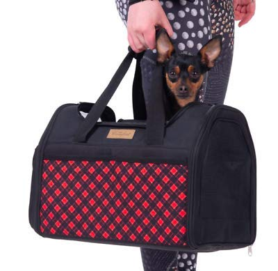 Generic .Trav Carry Bag Cat For Dog Cat ravel Carry Bag Waterproof Cushione Small Pet Carrier arrier B Cushioned Travel t Carrier