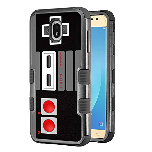 for Samsung Galaxy J7 Star / J7 Crown / J7 Aura / J7 Refine / J7 (2018), One Tough Shield 3-Layer Shockproof Protector Phone Case - Game Controller