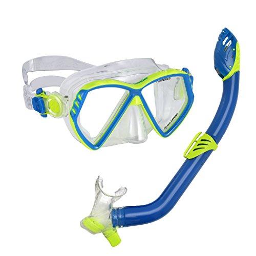 U.S. Divers Regal Jr Mask Laguna Snorkel Combo, Yellow Blue