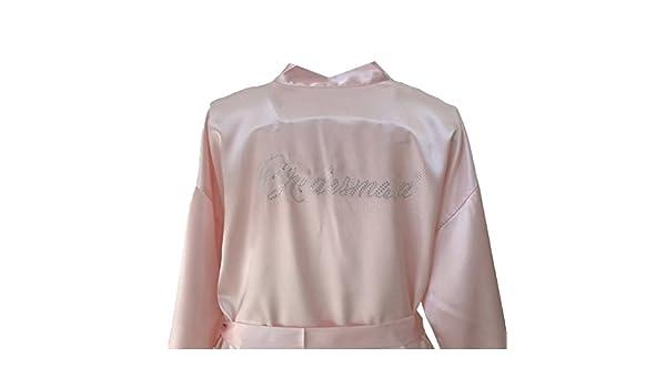 Zhien Dama de Honor de la Mujer Albornoz Batas Kimono Pijamas Vestidos de Las Mujeres Casa Robes Ropa Albornoz Ropa de Dormir Luz Rosa 2XL: Amazon.es: Ropa ...