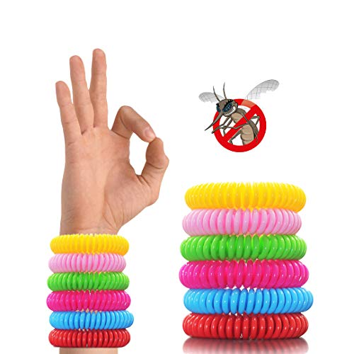 OTBBA 12 Pack Mosquito Repellent Bracelet, Waterproof Insect/Bug/Pest Repellent Bands Protection for Outdoor & Indoor, 12 Individually Wrapped Bracelets Lasts Up to 300 Hours Six Colors