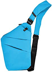 OSOCE Anti-Theft Waterproof Shoulder Backpack Sling Chest Crossbody Bag Cover Pack Rucksack Bicycle Sport