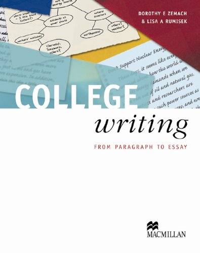 College writing from paragraph to essay dorothy e zemach