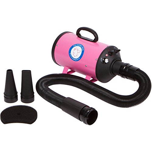 Cage Metro (Flying One Pink High Velocity 4.0 Hp Motor Dog Pet Grooming Force Dryer w/Heater)