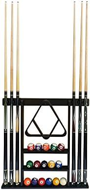 Flintar Wall Cue Rack, Premium Billiard Pool Cue Stick Holder, Made of Solid Hardwood, Improved Direct Wall Mo