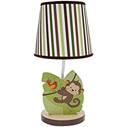 Bedtime Originals Jungle Buddies Lamp, Brown/Yellow