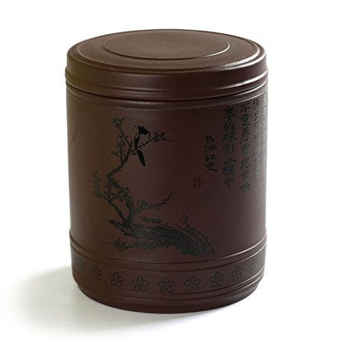 750ml Chinese YiXing ZiSha Pottery clay Magpie Tea Storage Canisters Caddy Jar ()