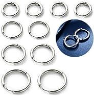 Hoop Earrings Set of 5 Pairs of Small Hoop Earrings, 16G 8mm 10mm 12mm 14mm 316L Stainless Steel Hoop Earrings
