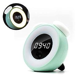 VIKICHY CuteAlarmClock with Demmer Touch Control Clock for KidsSmart Sensor Light for Girls's Gift Green