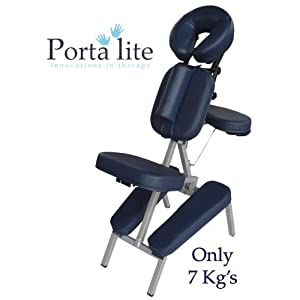Porta-Lite Advantage MASSAGE CHAIR: Portable and Lightweight, Professional Style with Removable Sternum Pad [Navy]