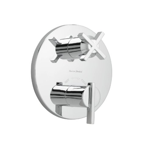 (American Standard T430740.002 Berwick Two Handle Thermostat, Polished Chrome)
