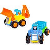 Toyshine 2 in 1 Unbreakable Automobile Engineering Set for Kids (Multicolour)