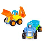Toyshine Sunshine Automobile Engineering Tractor Trolly And Jcb Machine - Pack Of 2