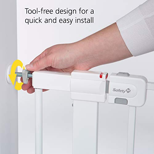 41fpR5p JRL - Safety 1st Easy Install Metal Baby Gate With Pressure Mount Fastening (White), Pack Of 1