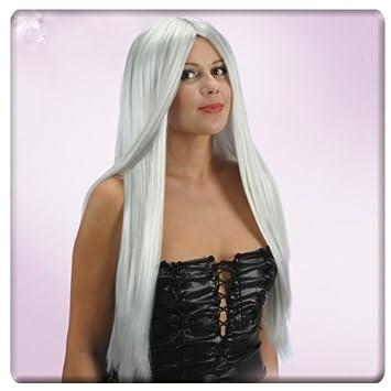 Colour de la peluca de bruja para mujer bruja Halloween pelucas te dé un ataque: Amazon.es: Juguetes y juegos