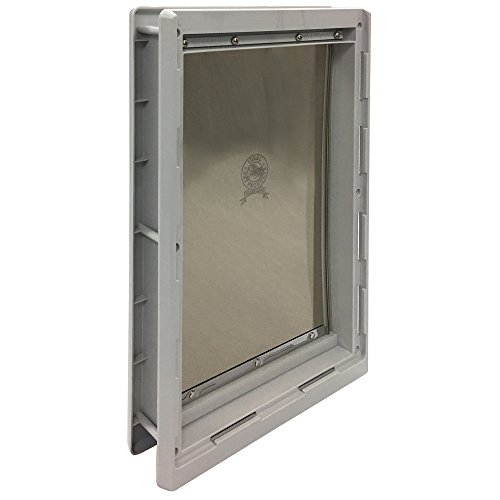 (Ideal Pet Products Designer Series Plastic Pet Door with Telescoping Frame, Extra-Large, 10.5