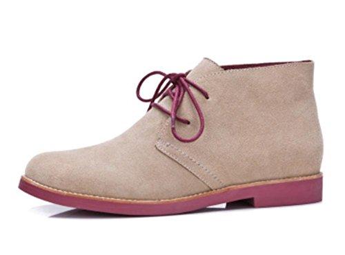 Ms Spring redondas y botas con cordones de los zapatos de tacón bajo las botas de otoño individuales señorita Ma Dingxue , US5.5 / EU35 / UK3.5 / CN35