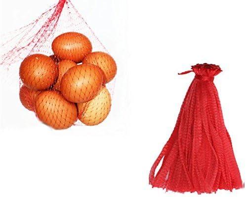 """500 stücke 12 """"Mesh Produzieren Tasche Wiederverwendbare Net Bag Nylon Spielzeug Obst Gemüse Kordelzug Lagerung"""