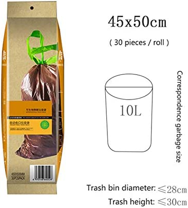 YINKUU ゴミ袋 生分解性 分解可能なごみ袋 環境保護 ゴミ処理袋 キッチン バスルーム オフィス 台所 家庭用
