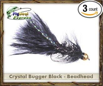 1 dozen Beadhead Krystal Buggers size 8